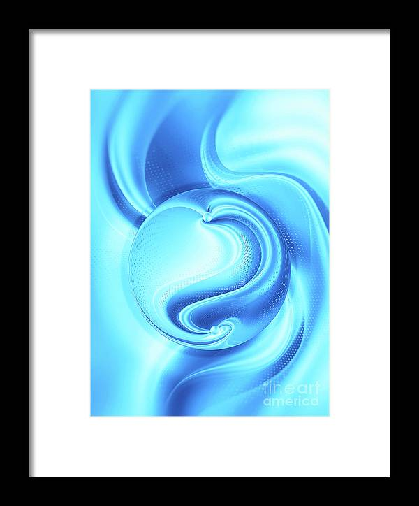 Framed Art Framed Print featuring the digital art Into The Unknown Xcii by Tenyo Marchev