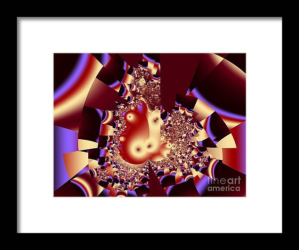 Fractal Art Framed Print featuring the digital art Into The Well by Ron Bissett