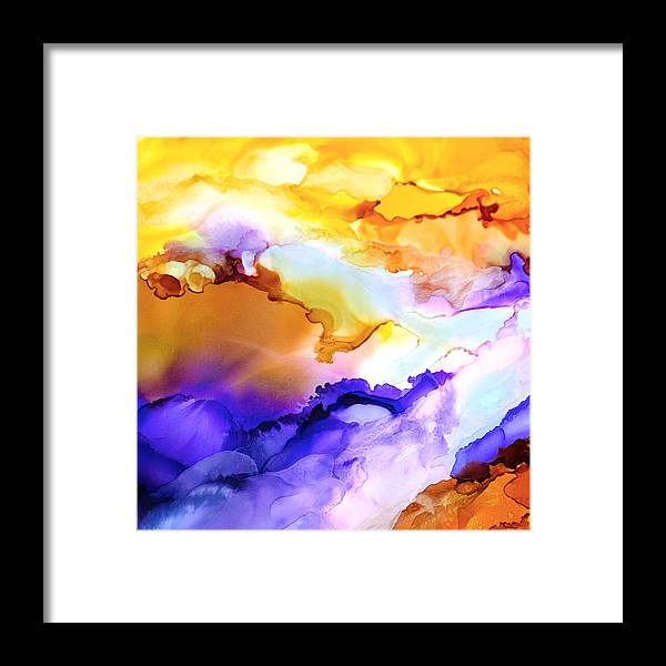 Abstract Framed Print featuring the painting Intrepid Adventure - F - by Sandy Sandy