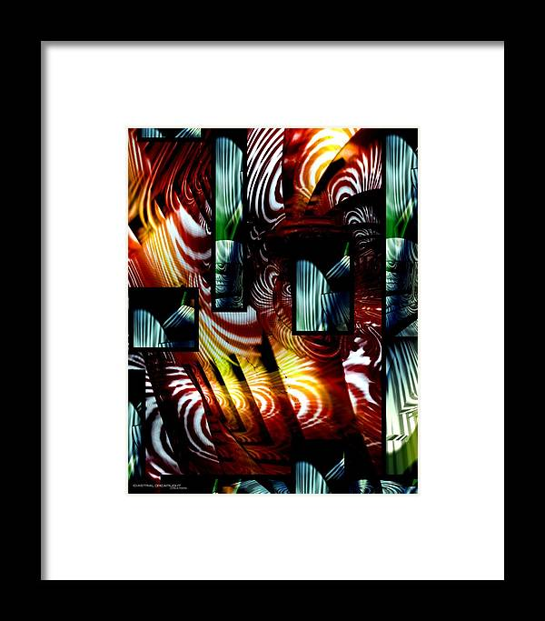 Abstract Framed Print featuring the painting Intrigue by Dreamlight Creations