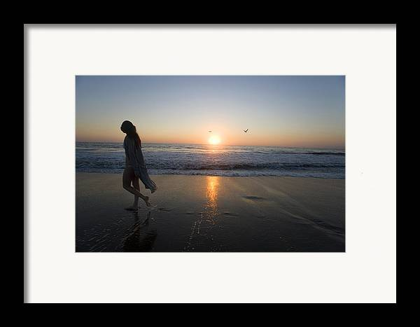 Beach Framed Print featuring the photograph Introspection 2 by Brad Rickerby