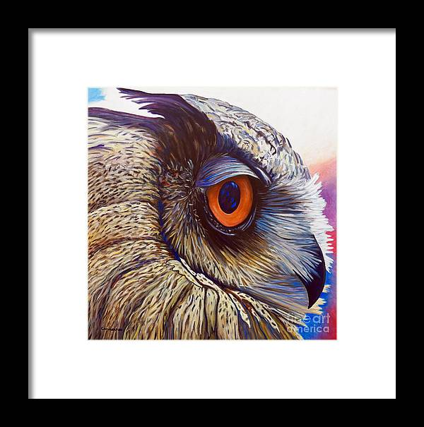 Owl Framed Print featuring the painting Introspection by Brian Commerford