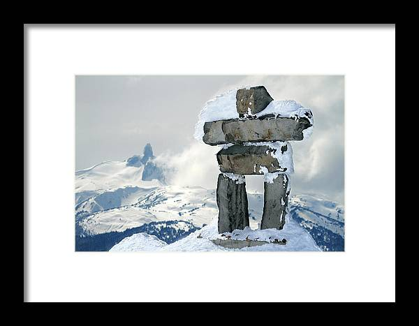 Inukchuk Framed Print featuring the photograph Inukchuk Whistler by Pierre Leclerc Photography