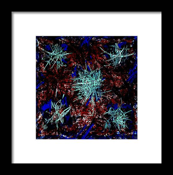 Abstract Framed Print featuring the drawing Invasion by Kseniya Nelasova
