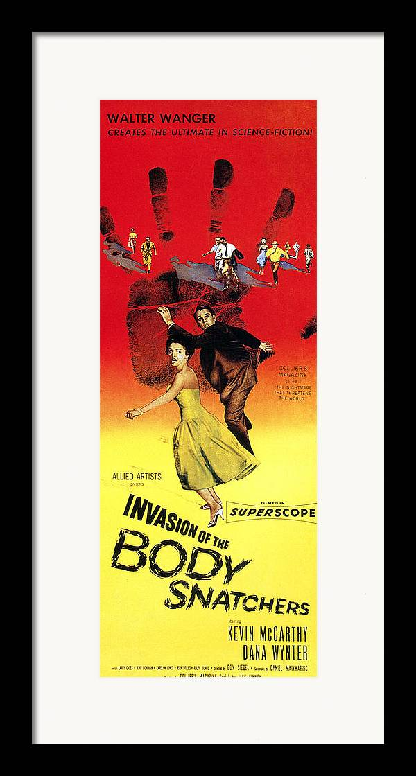 1950s Poster Art Framed Print featuring the photograph Invasion Of The Body Snatchers, Center by Everett