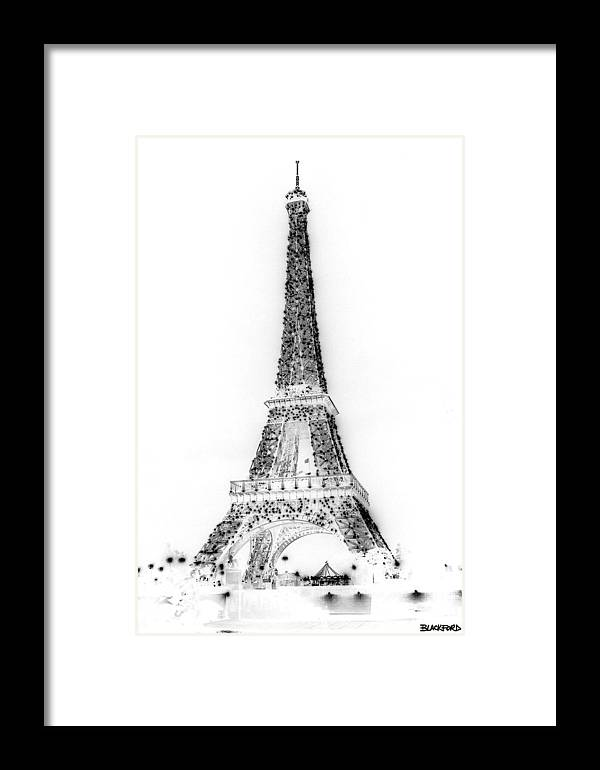 Eiffel Tower Framed Print featuring the photograph Inverted Eiffel Tower by Al Blackford