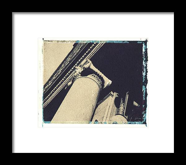 Polaroid Transfer Framed Print featuring the photograph Ionic by Bernice Williams
