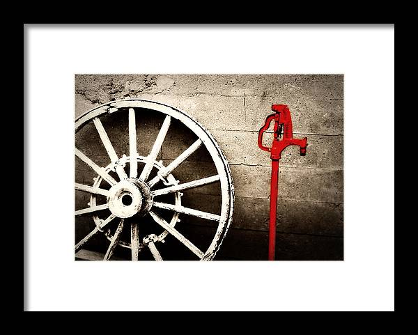 Barn Framed Print featuring the photograph Iowa Hydrant by Julie Hamilton