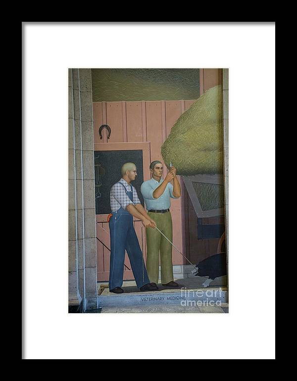 Grant Wood Framed Print featuring the photograph Iowa State Mural - 2 by David Bearden