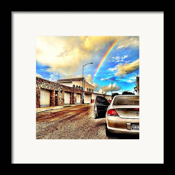Popularpics Framed Print featuring the photograph #iphone # Rainbow by Estefania Leon
