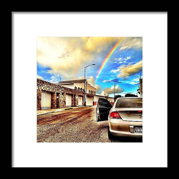 Popularpics Framed Print featuring the photograph #iphone # Rainbow by Estefania Leon