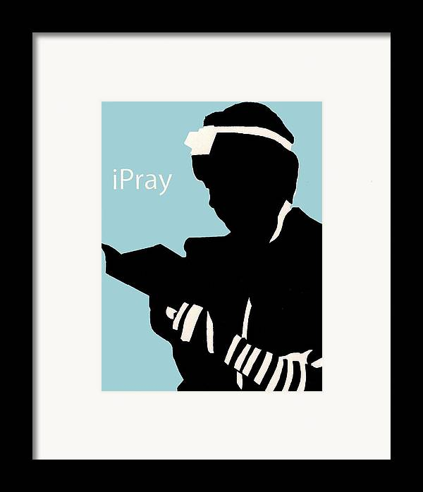 Apple Framed Print featuring the digital art Ipray by Anshie Kagan