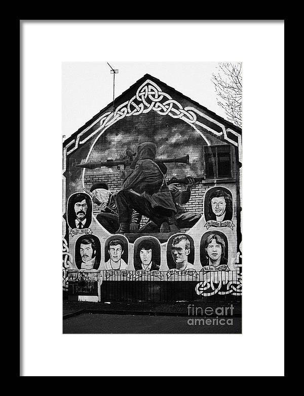 Belfast Framed Print featuring the photograph Ira Wall Mural Belfast by Joe Fox