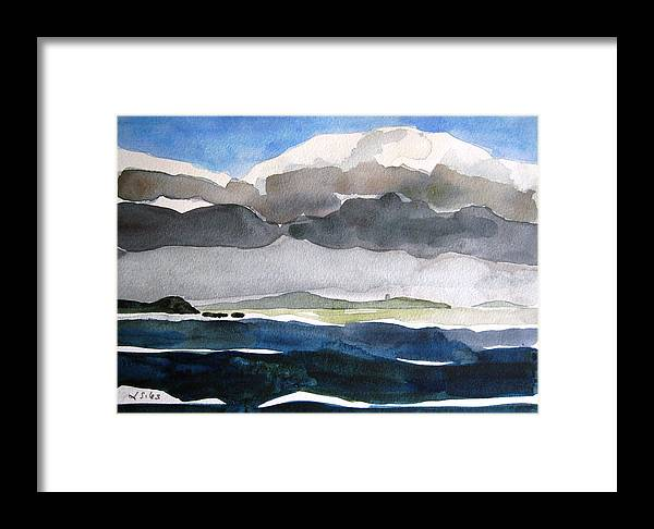 Irish Framed Print featuring the painting Ireland Mutton Isle Clare by Lesley Giles