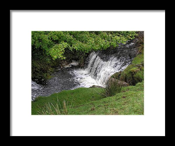 Water Falls Framed Print featuring the photograph Ireland Waterfalls by Jeanette Oberholtzer