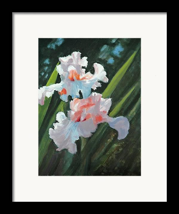 Irises Framed Print featuring the painting Iris Pour Une Belle Femme by Glenn Secrest