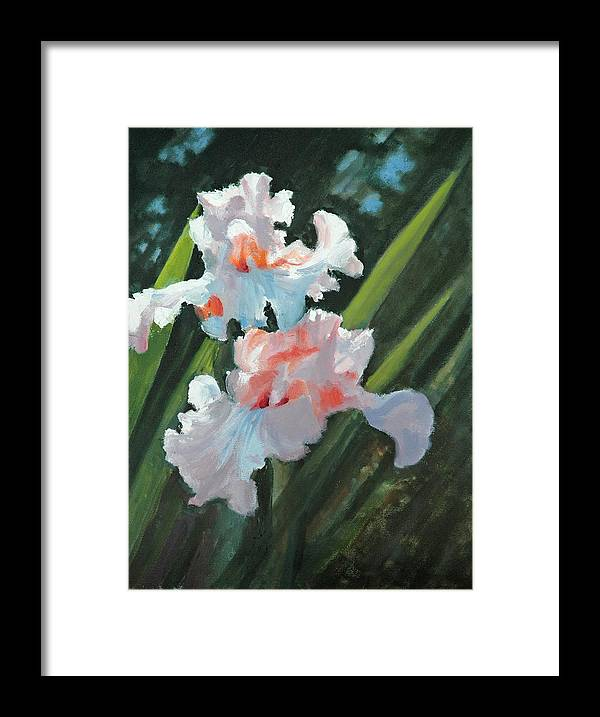 Irises Framed Print featuring the painting Iris Pour Une Belle Femme by Glenn Secrest