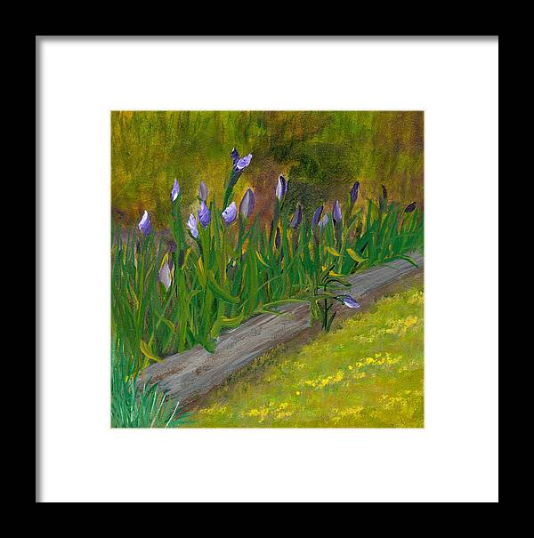 Iris Framed Print featuring the painting Iris Procession by Wanda Pepin