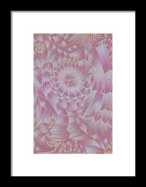 Abstract Framed Print featuring the digital art Iris by Scott Edwards