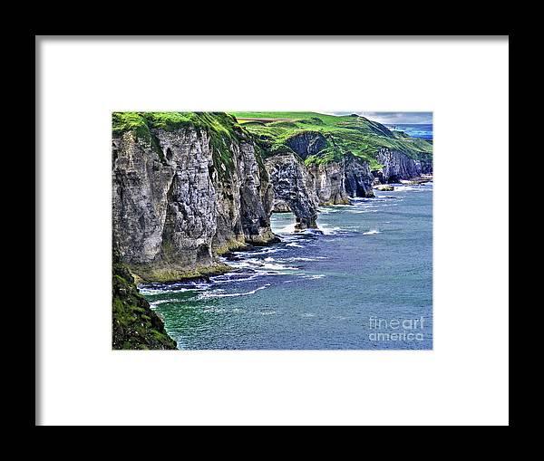 Dunluce Framed Print featuring the photograph Irish Coast by Nina Ficur Feenan