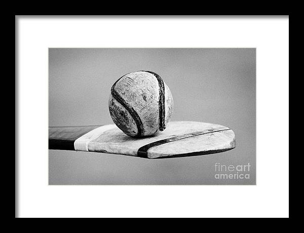 Northern Framed Print featuring the photograph Irish Hurling Ball And Stick by Joe Fox