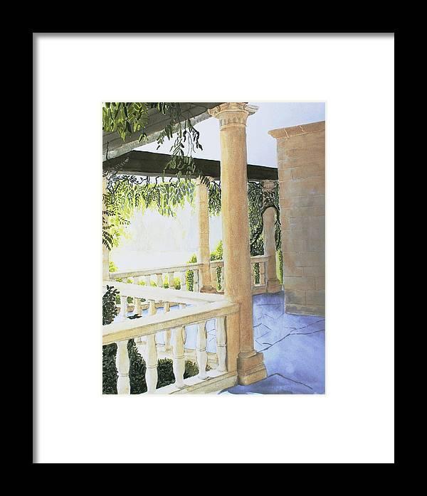 Garden Framed Print featuring the painting Irish Romance 2 by Frank Hamilton