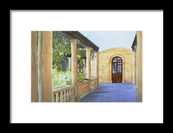 Garden Framed Print featuring the painting Irish Romance by Frank Hamilton