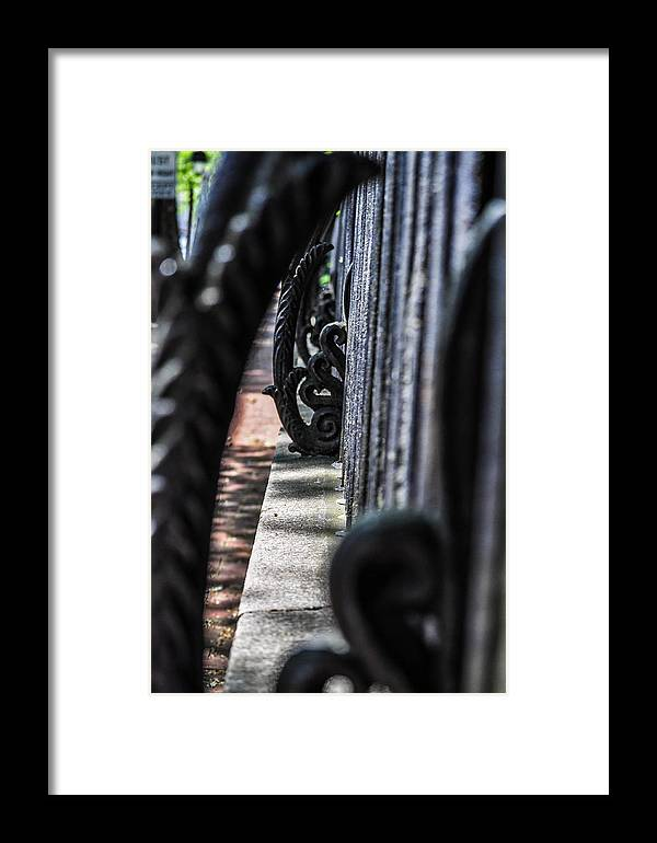 Fence Framed Print featuring the photograph Iron Art by Terepka Dariusz