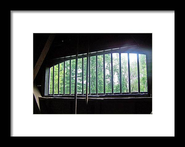 Barred Window Framed Print featuring the photograph Iron Bars And Sunlight by Patricia Taylor