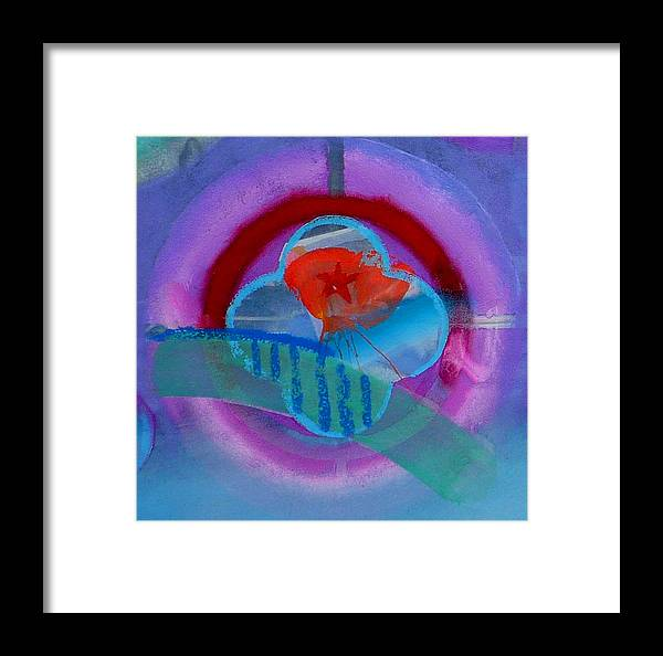 Logo Framed Print featuring the painting Iron Butterfly by Charles Stuart