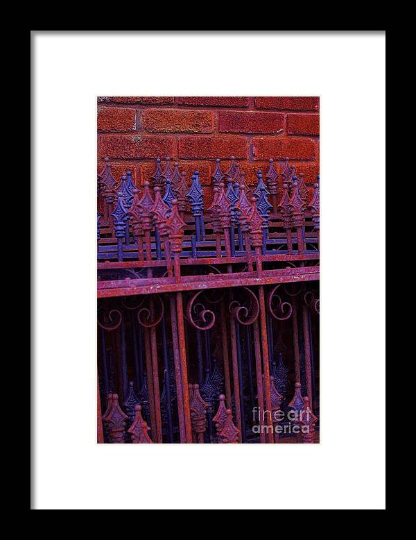 Iron Framed Print featuring the photograph Iron Fencing by The Stone Age