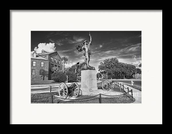 iron Mike Framed Print featuring the photograph Iron Mke Statue - Parris Island by Scott Hansen