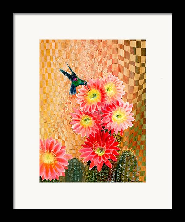 Hummingbird Framed Print featuring the painting Irresistible by Linda L Doucette