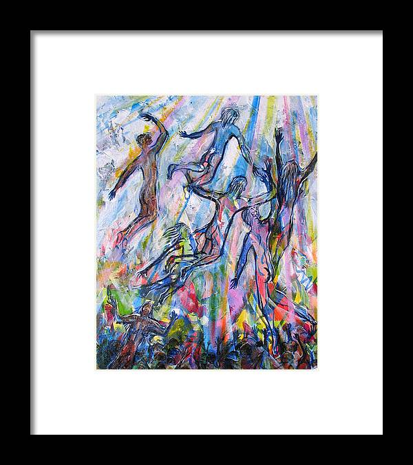 Hope Framed Print featuring the painting Is Anybody Coming To Get Me by Rollin Kocsis