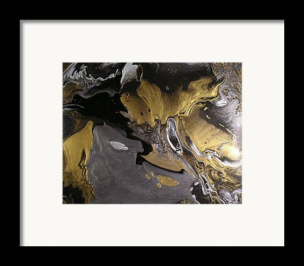 Abstract Framed Print featuring the painting Is It A Crime by Patrick Mock