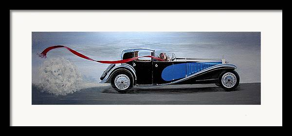 Cars Framed Print featuring the painting Is It Dora by JoAnne Castelli-Castor