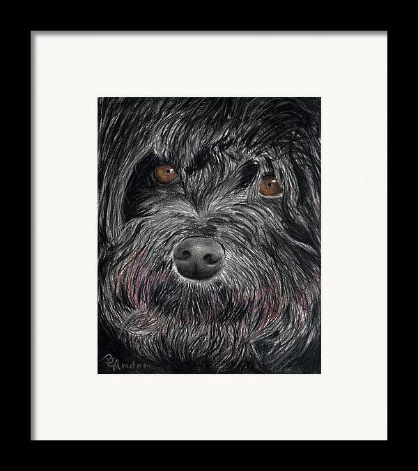 Dog Framed Print featuring the drawing Is That A Smile by Brent Ander