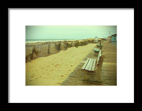 Jersey Shore Framed Print featuring the photograph Is This A Beach Day - Jersey Shore by Angie Tirado