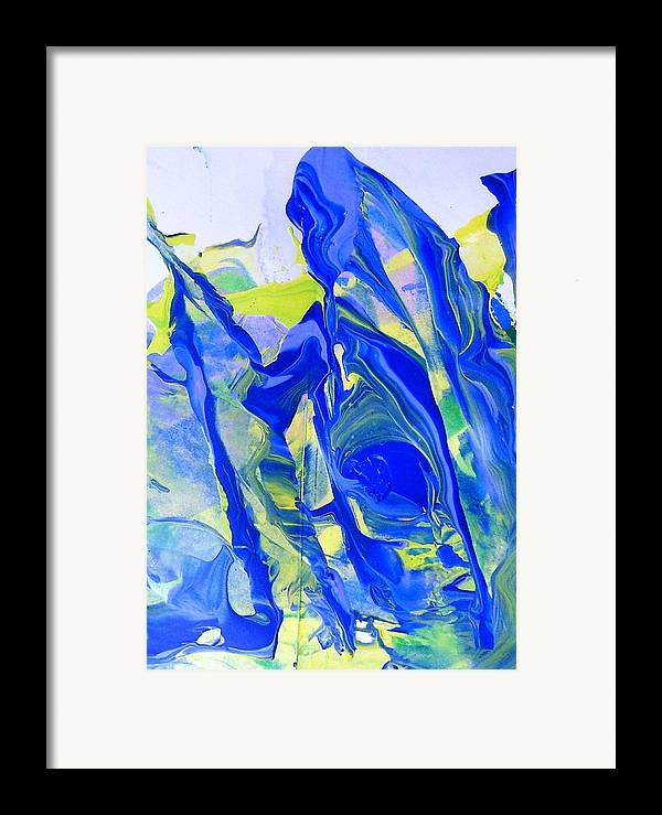 Framed Print featuring the painting Is This Pregnant Travelling Woman In Blue Famous by Bruce Combs - REACH BEYOND