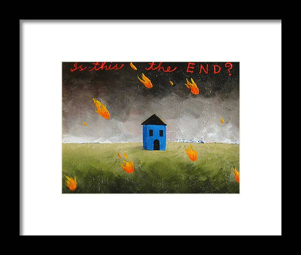 House Framed Print featuring the painting Is This The End by Pauline Lim