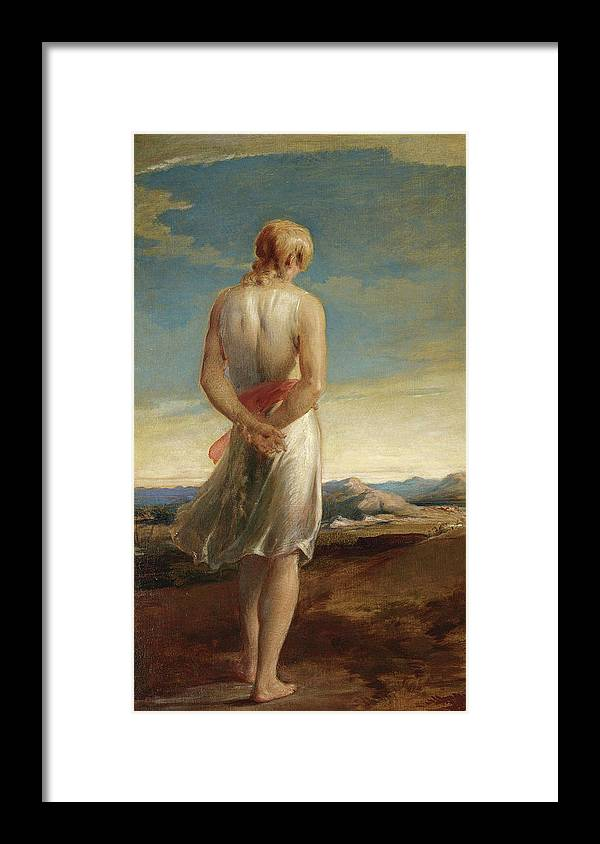 George Richmond Framed Print featuring the painting Isaac Going Forth To Meditate by George Richmond
