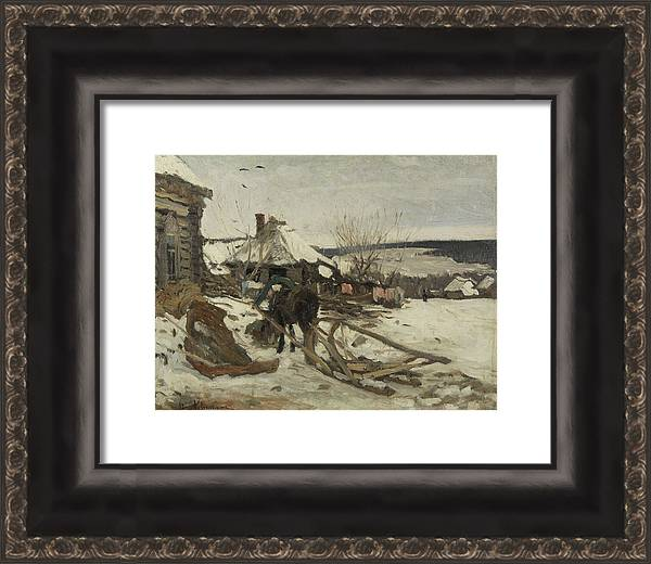 ISAAC LEVITAN  RUSSIAN 1860 1900  Horse Drawn Sled in the Winter by Isaac Levitan