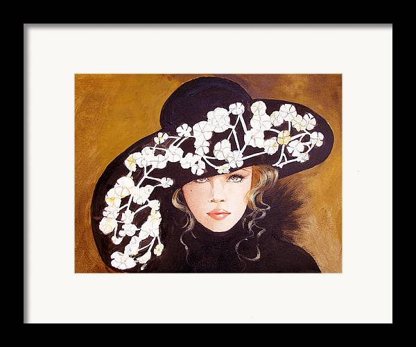 Fashion Framed Print featuring the print Isabella by Kay Robinson