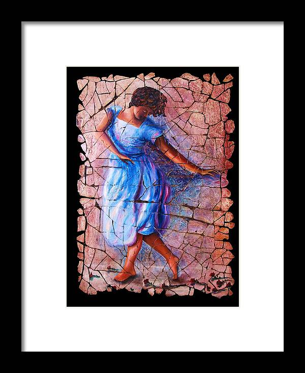 Isadora Duncan Framed Print featuring the painting Isadora Duncan - 3 by Lena Owens OLena Art