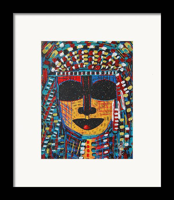 Abstract Framed Print featuring the painting Isatoria by Natalie Holland