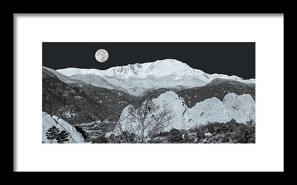 Garden Of The Gods Framed Print featuring the photograph Ishtar, The Babylonian Daughter Of The Moon by Bijan Pirnia