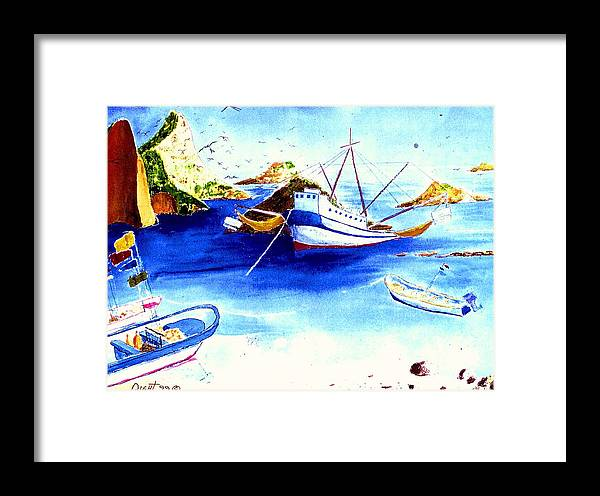 Sescape Framed Print featuring the painting Isla Isabela by Buster Dight