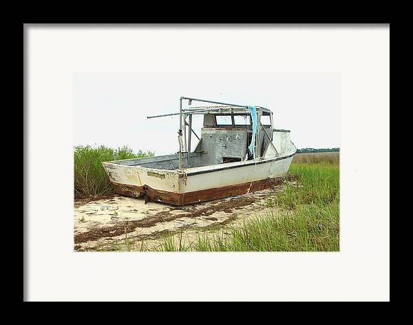 Boat Framed Print featuring the photograph Island Boat by Debbie May