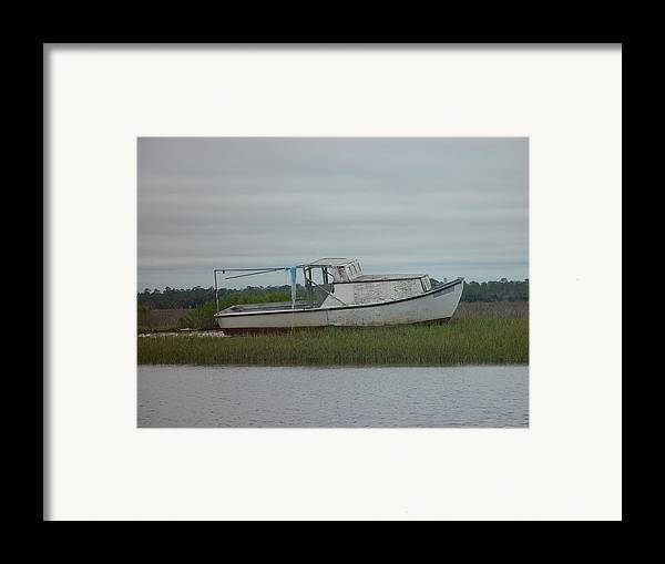 Boat Framed Print featuring the painting Island Boat Two by Debbie May