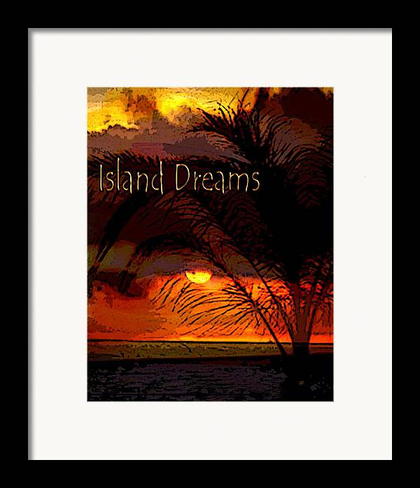 Digital Art Framed Print featuring the painting Island Dreams by Gerlinde Keating - Galleria GK Keating Associates Inc